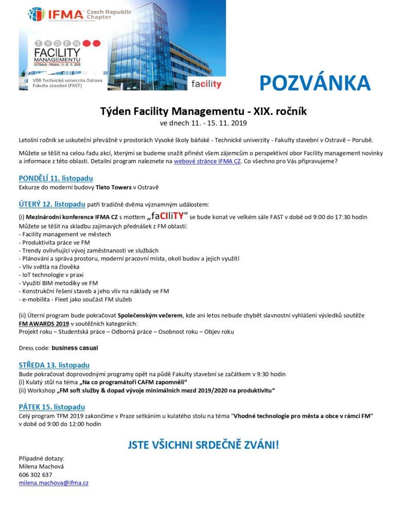 Pozvánka - TFM 2019
